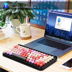 Lipstick Keyboard 2.4G Wireless Bluetooth Keyboard Mouse Etro Round Keycap 3 Adjustable DPI Mouse Hot Cute For Tablets