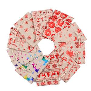 Muster-Beutel des Portemonnaies Leinen Designers Rucksäcke Jute Sack Kinder Geschenke Lagerung Stoff-Tasche Candy Bag Purse Boutique GWC2196