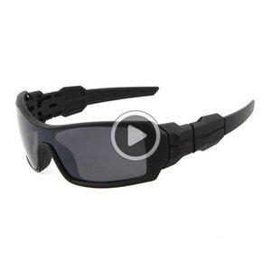 Heiße Verkäufe Herrenmode Sonnenbrillen Outdoor-Sport schattiert Gläser Harz Linsen Siamese Linsen Dener Sonnenbrille Freies Verschiffen