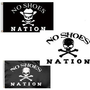 3x5 Ft senza scarpe Nazione Banner - Pirate Skull Senza Cappello da cowboy Fan Club poliestere bandiera con occhielli in ottone