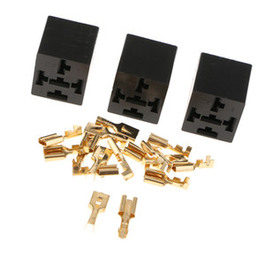3 Pezzi di 5 Pin Automotive Relay Socket Holder Con terminali 40A