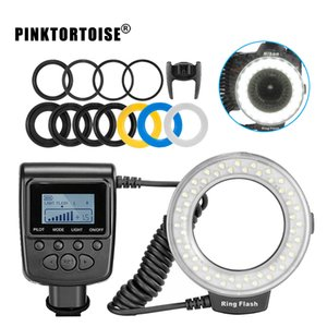 PinkTortoise Macro Ring Flash Light RF550D para cámara DSLR
