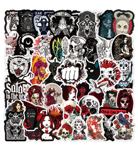 100 PCS Mixed Car Stickers Gothic Demon Red For Laptop Skateboard Stickers Pad Bicycle Motorcycle PS4 Phone Luggage Helmet Pvc Guitar Decal