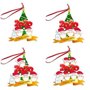 2/3/4/5/6 Face Aile Noel Süs Kişiselleştirilmiş Karantina Noel ağacı pendents Noel Partisi Dekorasyon Hediyeler F91601 Maske