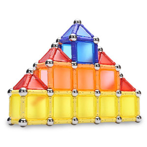 350pcs / set Bunte Magnetic Sticks Building Blocks Early Education Spielzeug Metallkugeln DIY Stem Spiel-Kind-Geschenk
