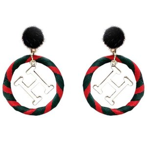 European and American British style cloth art MAO MAO earring letter earring twined cloth ring ring earrings fashion exaggerated earrings 66
