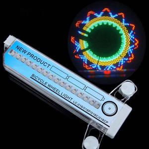 32LED Rodas de bicicleta Luzes Bike Light Spokes Lamp Double-Sided colorido rodas de luz bicicleta luz de aviso de bicicleta Hot Wheel