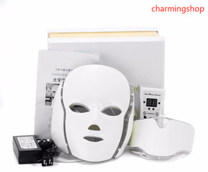7 Colors Anti aging PDT Beauty Machine Led Light Therapy Face Mask Micro current Function Fast Shipping