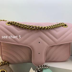 2020 nouvelle mode de vente à chaud polyvalent sacs chaîne sac à bandoulière haute simple sac de messager rétro texture et le sac à main de luxe dame