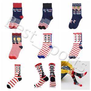 CYZ2760 favor Trump Presidente Calcetines MAGA Trump Carta medias de rayas estrellas del deporte de la bandera de Estados Unidos Calcetines 7 estilos MAGA Partido del calcetín