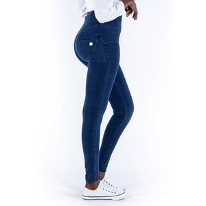 Melody High Rise Sexy Push Up Jeggings Dark Blue Zipper Fly Super comfortable Pencil Leggings For Women Plus Size Leggings mujer Y200904