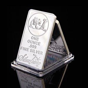 ABD Towne Prospector 1oz Bar Ons Troy Gümüş Kaplama Külçe Gümüş Kaplama Hatıra Bar