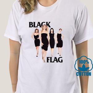 Bandera 3965A Sexo en Nueva York Negro blanco de la camiseta de algodón de las señoras S-3XL proveedor estadounidense de alta calidad Camiseta