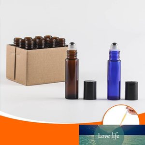 Travel 100pcs lot 5ml 10ml Portable Amber Roll On Roller Bottle for Rollerball Essential Oils Refillable Perfume Bottle