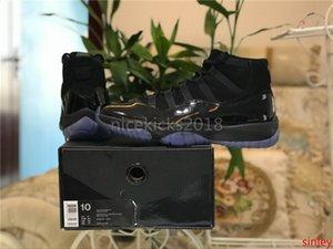 Горячий продавать дешевые Лучшие баскетбольные ботинки 11 Blackout Comfort XI 11s Athletic Спортивная обувь Мужская Женская Designs 23 Black Кроссовки Идущие тапки