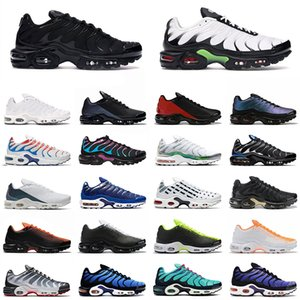 Zapatillas de running Air Max Tn Plus SE Just Do it triple negro blanco Shark Hyper Blue Spray Paint Scream Green hombre entrenador zapatillas deportivas