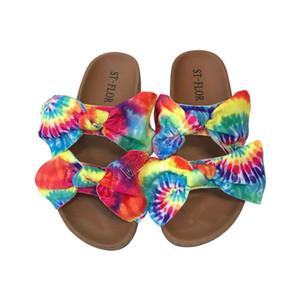 신발은 컬러 인쇄 활 여름 여성 디자이너 샌들 플랫폼 슬라이드 Luxurys sandales 슬리퍼 해변 목욕 캐주얼 신발 D9706을 타이 염색