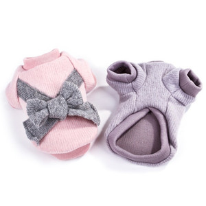 Luxury Cute Dog Clothes Thicken Warm Pet Dog Clothes Bow Sweater Cotton Winter Soft for Small Medium Dogs Coat XS-2XL