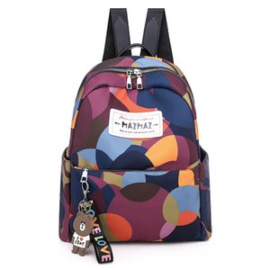 2020 New Oxford Cloth Backpack Female Diaper Bag Korean Fashion Simple Small Backpack Casual Travel Bag Wholesale
