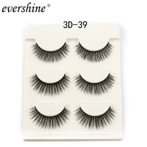 Dropshipping naturel des yeux Lashe 3d Mink eyelashe Lashes main réutilisables populaires Cils individuels Make Up Maquiagem # 3d-39