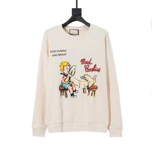 20FW Women Hoodies letter Boy Print Cotton Sweater High Quality Autumn Winter Sweatshirt Fashion Streetwear Size XS-L