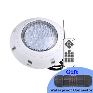 RGB Underwater Light LED Waterproof IP68 Swimming Pool Light AC 12V Wall Mounted Submersible Pond Lamp With Wire Connector