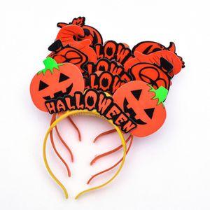Kids LED Pumpkin Barrettes Light Up Headband Luminous Flashing Hair Sticks Halloween Christmas KidParty Cosplay Prop LighPumpkin Barrettes