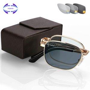+ 4.00 - VCKA Kadınlar Vidasız güneş kaynaklı renk değişikliği okuma manuel tasarım akıllı çok amaçlı 0,25 gözlükler