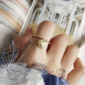 M heart shape Rings 925 Silver Jewelry Minimalism Charm Anel Bohemia Jewelry Vintage Boho Bague Femme Anelli Ring for Women