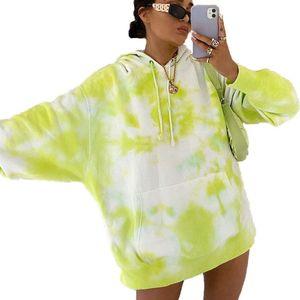 Fanco 2020 Autumn and Winter New Women Hoodies Fashion Loose Women Clothes Tie-dye Hooded Tops Sweatshirt