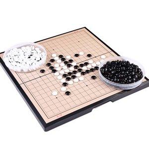 19 * 19 линия Magnetic Go Game Складная Weiqi акриловые Черный Белый Chessman шахматы для детей головоломки шахматы Настольная игра игрушки подарков