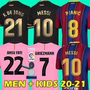 20 21 barcelona fußballtrikot 2020 2021 barcelona fc soccer jersey MESSI GRIEZMANN DE JONG ANSU FATI SERGIO VIDAL UMTITI PIQUÉ football shirt