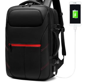 Men Travel Backpack Expandable Large Capacity Male Mochilas Bag USB Charging 15.6 inch Backpack Waterproof