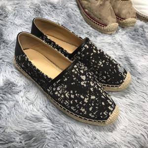 2020 Nouveau design de luxe femmes Granville Espadrilles Mode Plateforme Femmes Chaussures Fisherman Oblique Espadrilles couleurs multiples avec boîte