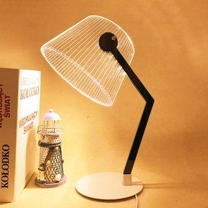 Cgjxs Brelong Bg Creative 3D Настольная лампа Led стол Reading Light Night Light Акриловые Креативный Прикроватная украшения Настольная лампа ребенка Рождество Gif