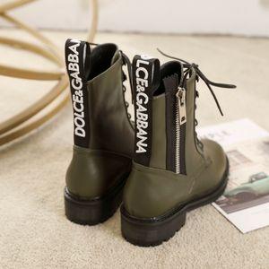 2020ss alta calidad botas de cuero de las mujeres de combate diseño de la cremallera botas de mujer de Martens Diseño De lujo damas moto doc botines