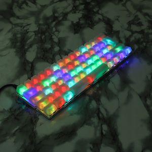 Klavye tuşu için MX Mekanik Klavye RGB Womier 66 LJ200925 sayesinde YMDK 1. ABS 108 87 61 ANSI, ISO Blank Süt Sis OEM Profili Shine