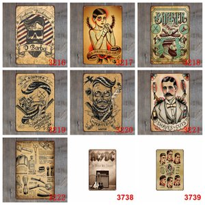 Bar Poster Metal Tin Sign Vintage Craft Wall Plaque Iron Painting Barber Shop Decoration Pub Signs Wall Decor Paints GWC2278