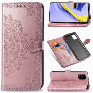 Caja del teléfono de la datura Flores para la cubierta de Samsung Galaxy A71 5G cuero de la PU con ranura para tarjeta Monedero correa de mano (Modelo: A71-5GMobilephone)