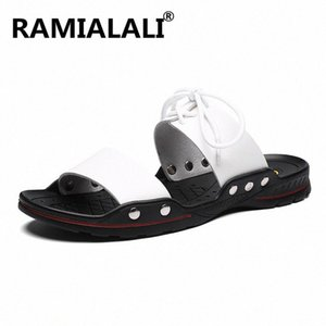 New Summer Men Leather Sandals Casual Shoes Men Outdoor Beach Sandals Roman Summer Mens Water Slippers Shoes L77c#