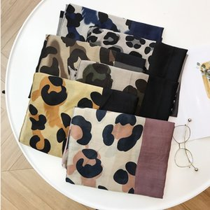 2020 Women Fashion Brand Leopard Dot Tassel Cotton Shawl Scarf Ladies Print Soft Warmer Wrap Pashminas Sjaal Muslim Hijab Snood