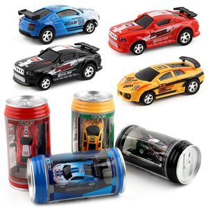 New Arrival 1 63 Mini RC High-Speed Drifting Off-Road Car Pull-Ring Can Toy Gift For Children Plastic Drift Car Cool Light