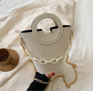 Fashion Women Bucket Bag Plain Handbag High Quality Ladu Beach Shoulder Bags Chain Totos-shelala