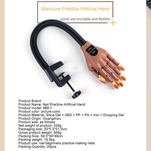 Nail Practice Prosthetic Bendable Movable Joint Professional Nail Practice Model Fake Hand Nail ToolRabin
