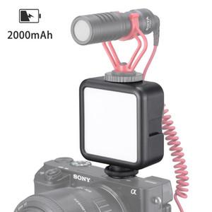 Ulanzi VL49 Mini-LED-Videoleuchte eingebaute Batterie 5500K Fotografie-Beleuchtung mit Kalt Schuhe für DSLR-Kameras Smartphones Mic