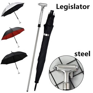 Multifunctional Broken Window Car Safety Hammer Umbrella Sunny Rain Umbrella Sunscreen Walking Stick Can Be Pulled Out Self-defense Sword Um