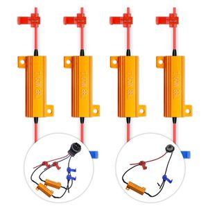 Carga 50W 8 ohm LED Canbus Resistências LED Headlight Bulbs erro CANCELLER nos pisca-piscas Hiper flash Capacitor Decoder fio