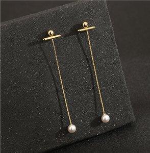 2020 new fashion Earrings female long tassel earrings drop European and American ear chain temperament simple personality ear line
