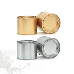 250 ML Alüminyum Çay Teneke Teneke Teneke Kavanoz Comesticals Konteynerler Taşınabilir Mühür Metal Çay Teneke Teneke Yuvarlak Streç Mum olabilir
