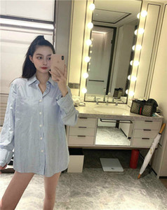 Spring Autumn Women's Shirt European and American Style Re-engraved Striped Letter Printing Urban Men's Women's Youth Shirts M-2XL